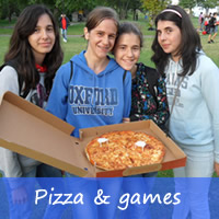 pizza and games evening